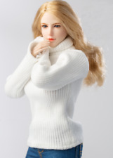"1/6 Scale Female Soldiers Clothes Knit Turtleneck Sweater 3 Colors F 12"" Body"