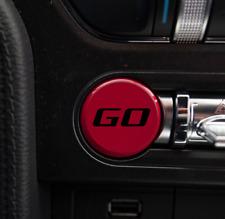 "2015-2018 Ford Mustang Push Start Vinyl Decal ""GO"" Sticker Button Overlay Custom"