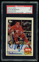 Joe Nieuwendyk #8 signed autograph auto 1990-91 Topps Team Leader SGC Authentic