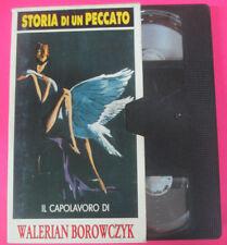 VHS STORIA DI UN PECCATO Walerian Borowczyk PREMIERE N.1 capolavoro(F183) no dvd