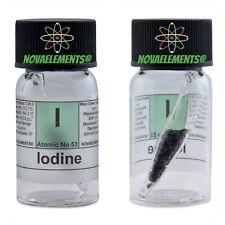 Iodio elemento 53 I pellets >2g 99,99% in ampolla dentro fiala etichettata