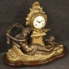 Table clock furniture object antique style in gilt bronze living room French