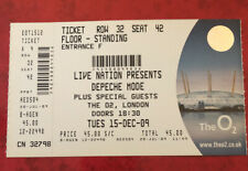 DEPECHE MODE TICKET 'Tour of the Universe' London O2 Arena 15 Dec 2009 UK Seller