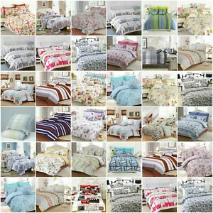 LUXURY BEDDING SET PRINTED DUVET COVER WITH PILLOWCASES DOUBLE SUPER KING SIZES