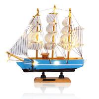 Segelschiff Modell Maritime Standmodell LED Holz Schiff Segelboot Dekofigur