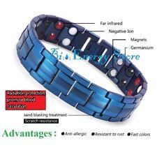 Blue Energy Bracelet Health ION Stones Bio Armband Health TiTanium Bio Magnet