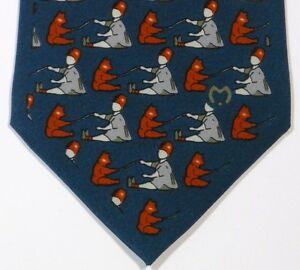 Blue MILA SCHON Silk Tie