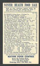 DATED 1944 PC BOSTON MA NATURE FOOD CENTRES HEALTH FOOD SALE