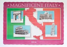 25 PACK MAGNIFICENT ITALY DESIGN PAPER PLACEMATS FREE SHIPPING