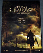 THE TEXAS CHAINSAW MASSACRE THE BEGINNING 2006 ORIGINAL 11x17 ADV. MOVIE POSTER!