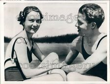 1938 Actress Sigird Gurie of Norway With 1st Husband Thomas Press Photo
