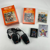 Indy 500 - Atari 2600 2 Controller Bundle 1978 Big Box Complete CIB Very Nice!