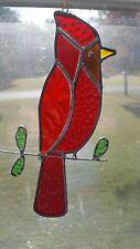 Cardinal Stained Glass Suncatcher