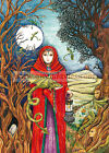 Gothic Steampunk Yule Christmas card Dragon Lady Pagan Solstice Gwen Davies