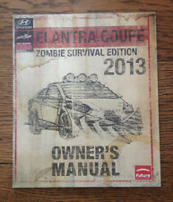 Walking Dead #1 Elantra Coupe Owner's Manual 2013, ZOMBIE SURVIVAL EDITION SDCC