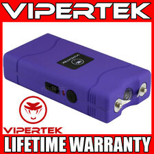 VIPERTEK Stun Gun Mini PURPLE VTS-880 335 BV Rechargeable LED Flashlight