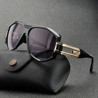 Retro Thick Frame BIG Oversizde Aviator Sunglasses Flat Top Men Designer Goggles
