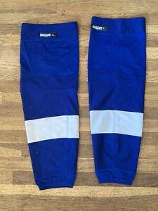 Tampa Bay Lightning Game Used Blue Pro Stock Socks Reebok XL NHL