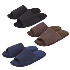 Mens Open Toe Mule Slippers Memory Foam Slip On Corduroy Solid House Indoor 6-11