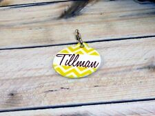 Personalized chevron pet tag, c 00004000 at tag, dog tag, pet lover, pet id