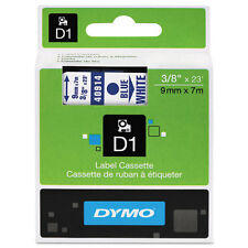 """Dymo 3/8"""" (9mm) Blue on White Label Tape for LabelManager 160 LM160, LM 160"""
