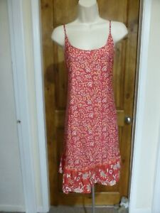 Pretty pink and cream floral tunic dress from Tendency size 16
