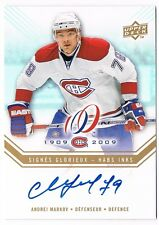2008-09 Upper Deck Montreal Canadiens Centennial Habs INKS Auto Andrei Markov