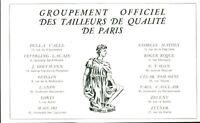 Publicité ancienne mode tailleurs de qualité 1953 issue de magazine