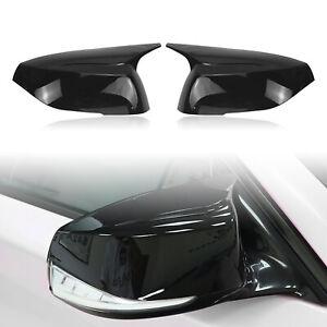 Gloss Black Rear Side Mirror Cover Add on For  Infiniti Q50 Q60 QX30 Q70 2014-21