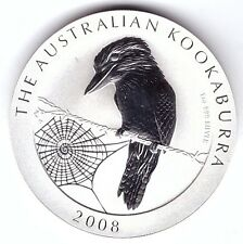 1 Oz SILBER Australien 1 Dollar 2008 Kookaburra