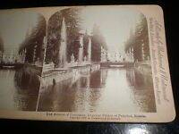 stereoview photograph fountains Imperial Palace Peterhof Russia 1897 Underwood