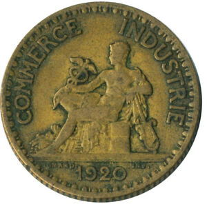 COIN / FRANCE / 1 FRANC 1920 CHAMBERS DE COMMERCE  #WT7802