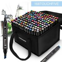 TOUCHFIVE Markers 30 40 80 168 Colors Dual Tips Alcohol Graphic Sketch Twin