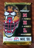 1997-98 pinnacle hockey pack = 10 cards Factory Sealed