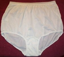 3 Pair White Size 11 EMBOSSOLON 100% Nylon Brief Panties With Elastic Lace