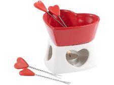 Romantikfondue Herzfondue Liebesfondue Schokofondue aus Keramik für 4 Personen