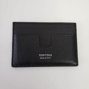 Tom Ford Pebbled Leather Card Holder Wallet AMEX Gift | Black | NEW