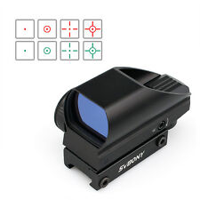 New SVBONY Green/ Red Coated Tactical 5Levels of Brightness 4 Reticolo Dot Sight