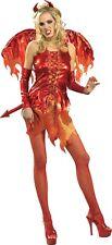 HALLOWEEN FANCY DRESS COSTUME ~ GOTH DEVIL ON FIRE FAIRY XS 6-8
