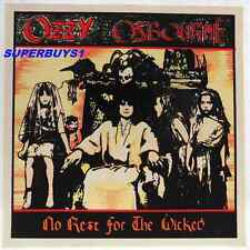 "ROCK BAND ""OZZY OZBOURNE "" AUTHENTIC VINTAGE  ""NO REST FOR THE WICKED"" STICKER"