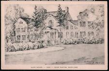 EASTON MD Hope House Vintage John Moll B&W Illustration Albertype Postcard Old