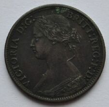 1868 UK Great Britain 1 Farthing XF Coin Sharp Details Queen Victoria