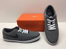 Nike SB Check Skate Training Casual Gray Canvas Athletic Sneakers Shoes Mens 8.5