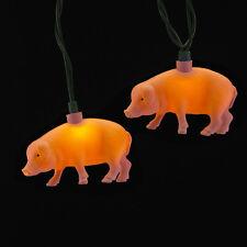 KURT S. ADLER NOVELTY PIG CHRISTMAS LIGHTS 10 LIGHT SET