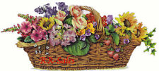 Garden Basket Lg Sunflower Rose Berry Floral Wall Decor Imperial Instant Stencil