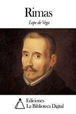 Rimas by Lope de Vega (2014, Paperback)