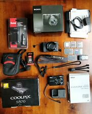 Sony DSC-RX100 Mark 1 Cyber-shot 20.2MP Digital Camera, Accessories & Nikon S570