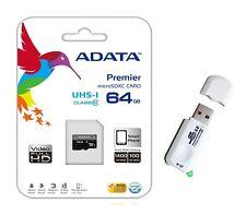 ADATA 64GB 64 GB Class 10 MicroSDHC Memory Card for LG G4 G + Card Reader