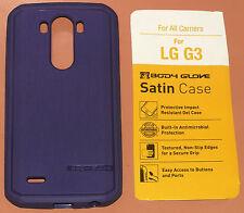 Body Glove Satin Case for LG G3, one part slip on Purple Gel Material, NEW