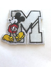 Mickey mouse Embroidered Iron On / Sew On Patch 2X2 inches